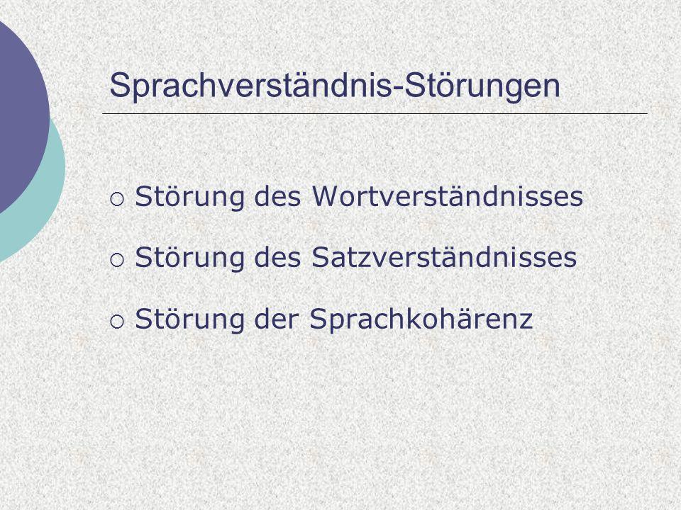 Sprachverständnis-Störungen