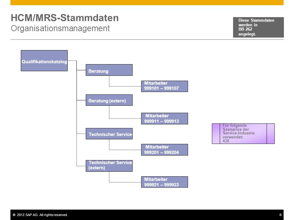 HCM/MRS-Stammdaten Organisationsmanagement