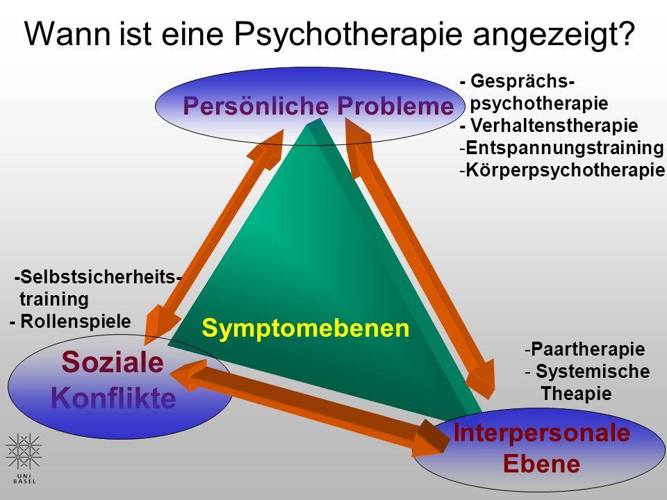 Wann ist eine Psychotherapie angezeigt