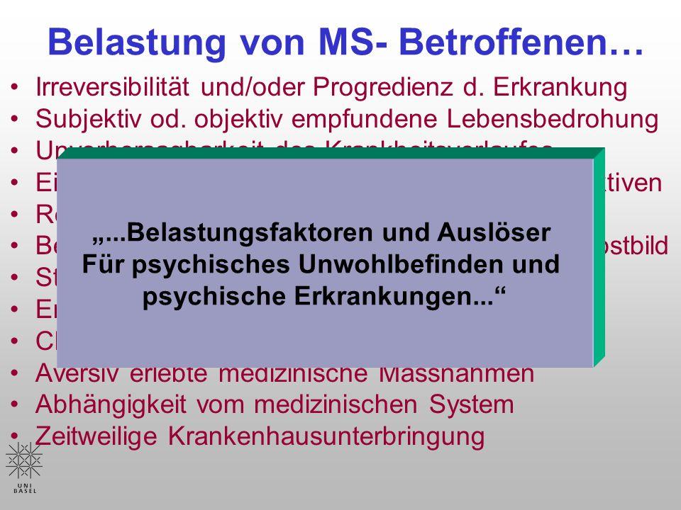 Belastung von MS- Betroffenen…