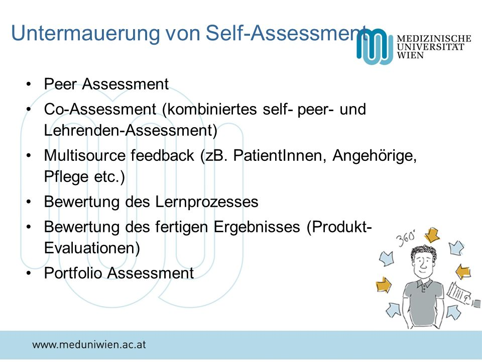 Untermauerung von Self-Assessment