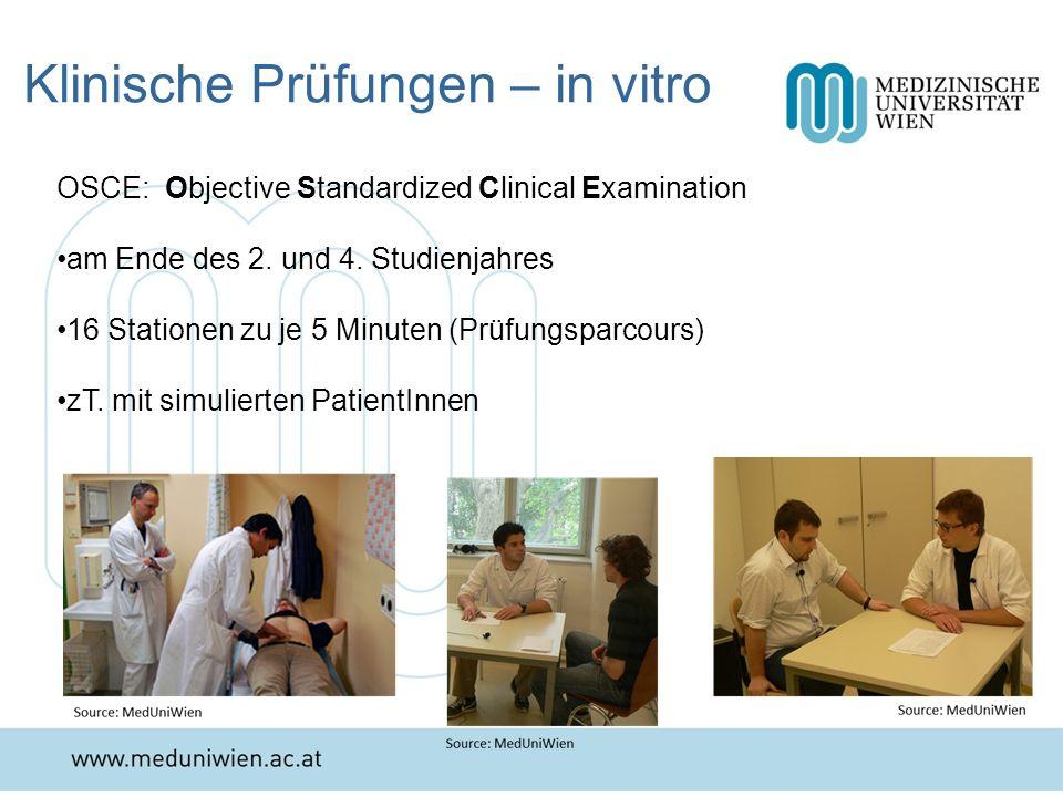 Klinische Prüfungen – in vitro