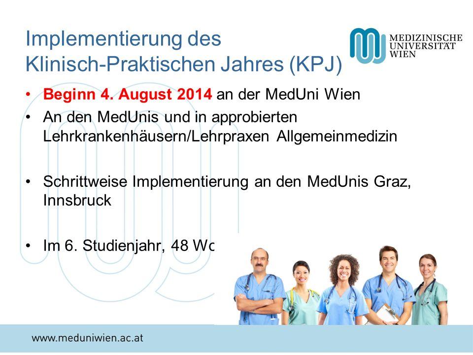 Implementierung des Klinisch-Praktischen Jahres (KPJ)