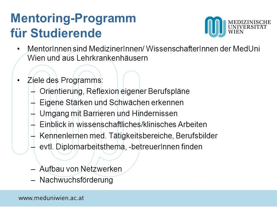 Mentoring-Programm für Studierende