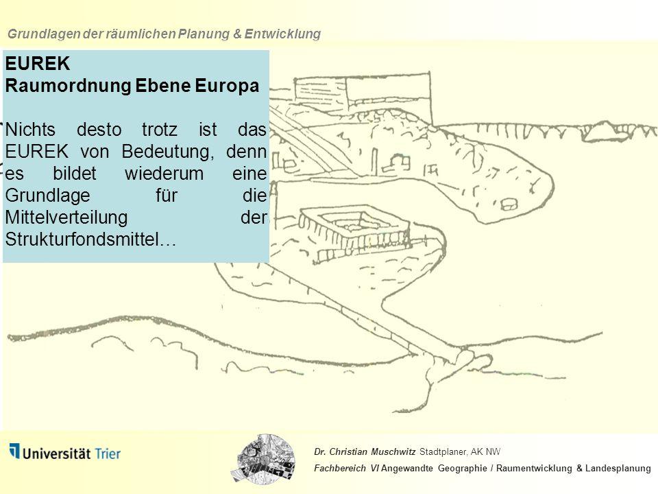 EUREK Raumordnung Ebene Europa.