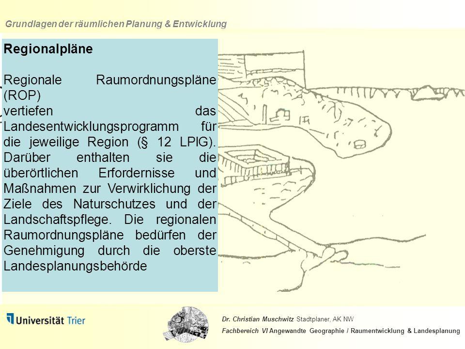 Regionalpläne Regionale Raumordnungspläne (ROP)