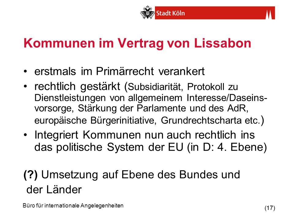Kommunen im Vertrag von Lissabon