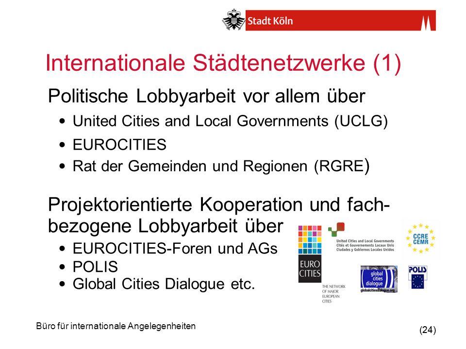 Internationale Städtenetzwerke (1)