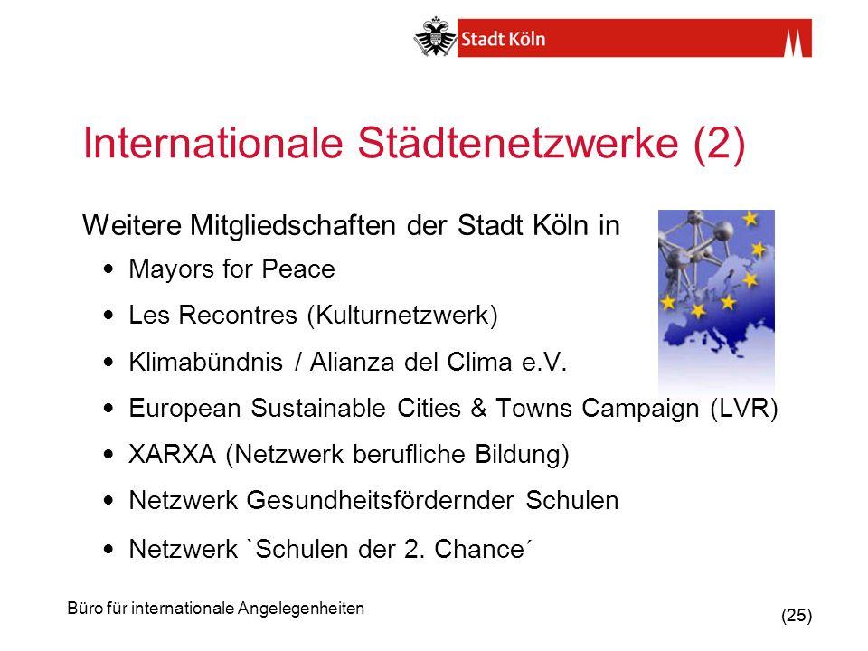 Internationale Städtenetzwerke (2)