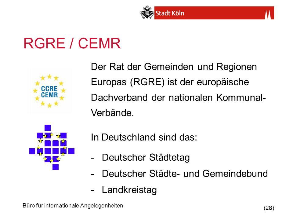 RGRE / CEMR Der Rat der Gemeinden und Regionen