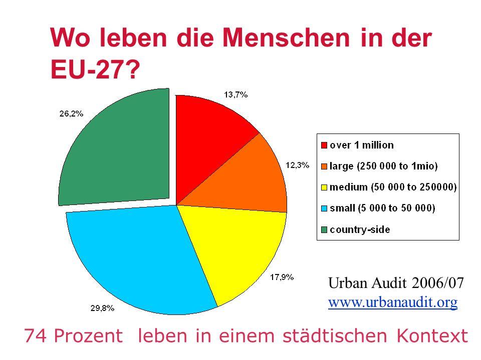 Wo leben die Menschen in der EU-27