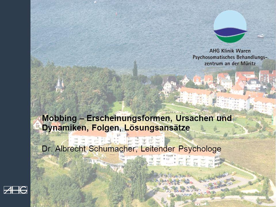 Dr. Albrecht Schumacher, Leitender Psychologe
