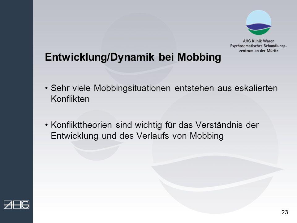 Entwicklung/Dynamik bei Mobbing