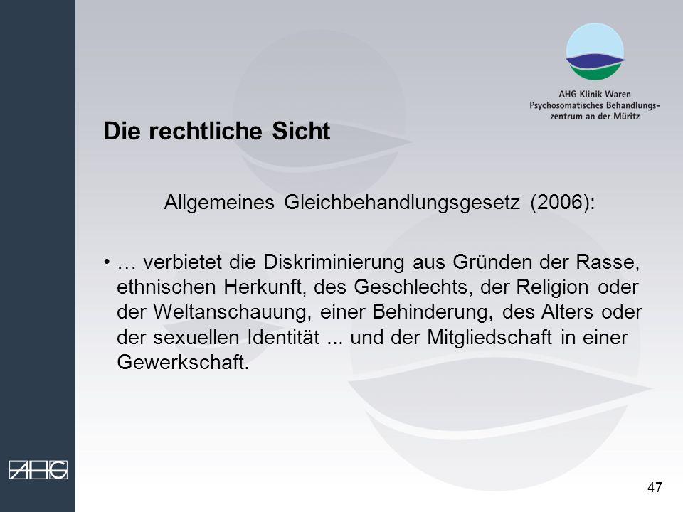 Allgemeines Gleichbehandlungsgesetz (2006):