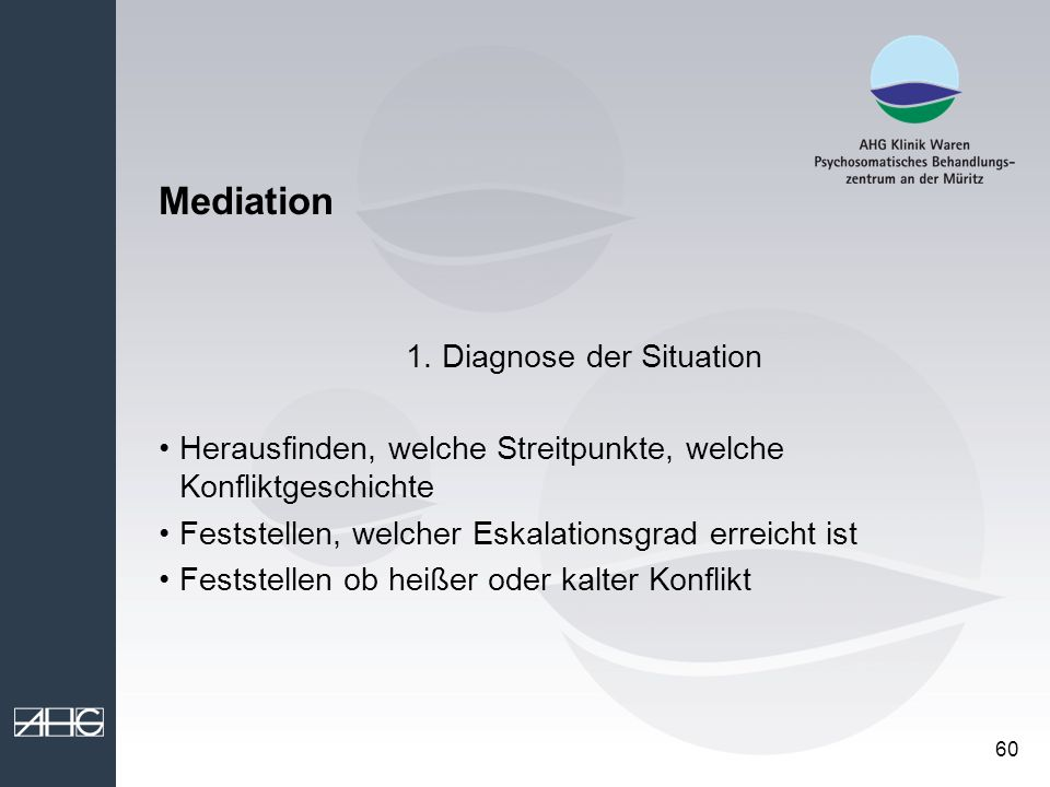 1. Diagnose der Situation