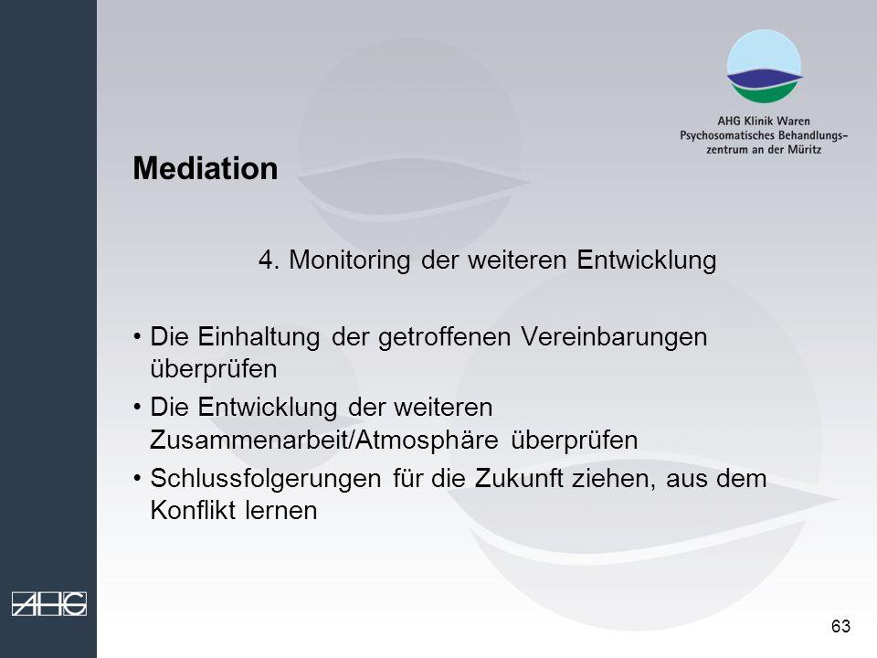4. Monitoring der weiteren Entwicklung