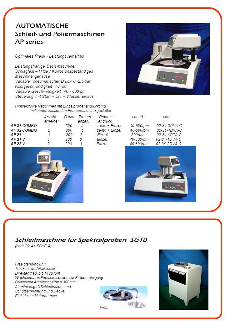 Schleif- und Poliermaschinen AP series