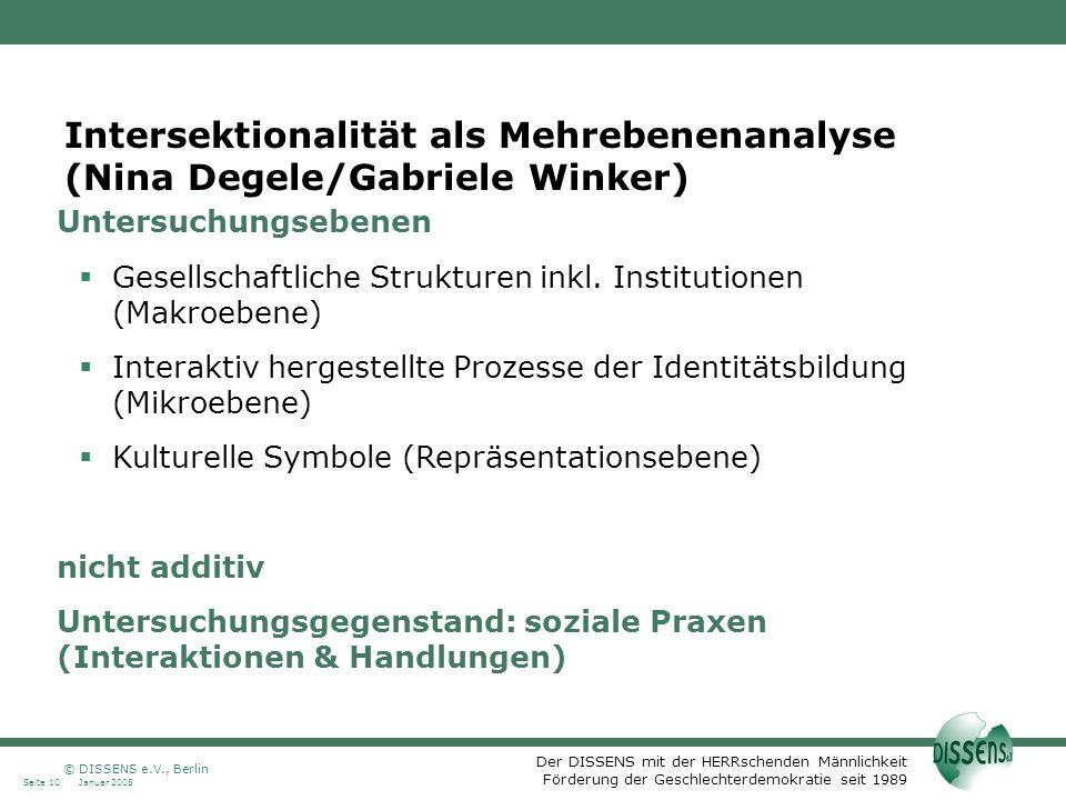 Intersektionalität als Mehrebenenanalyse (Nina Degele/Gabriele Winker)