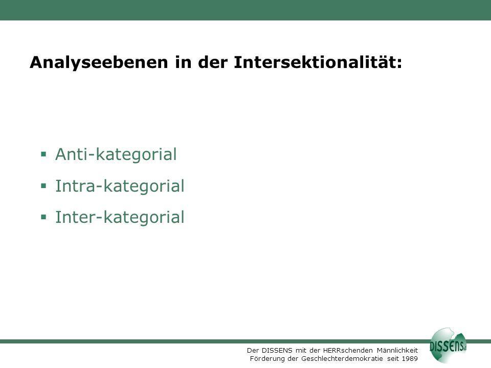 Analyseebenen in der Intersektionalität:
