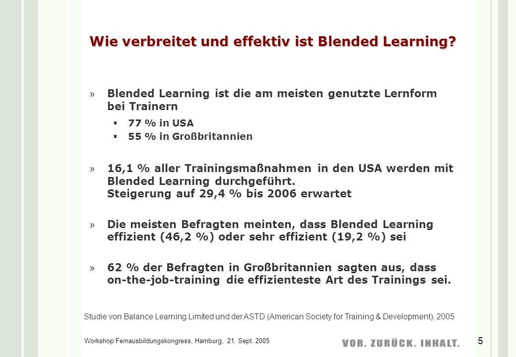 Wie verbreitet und effektiv ist Blended Learning