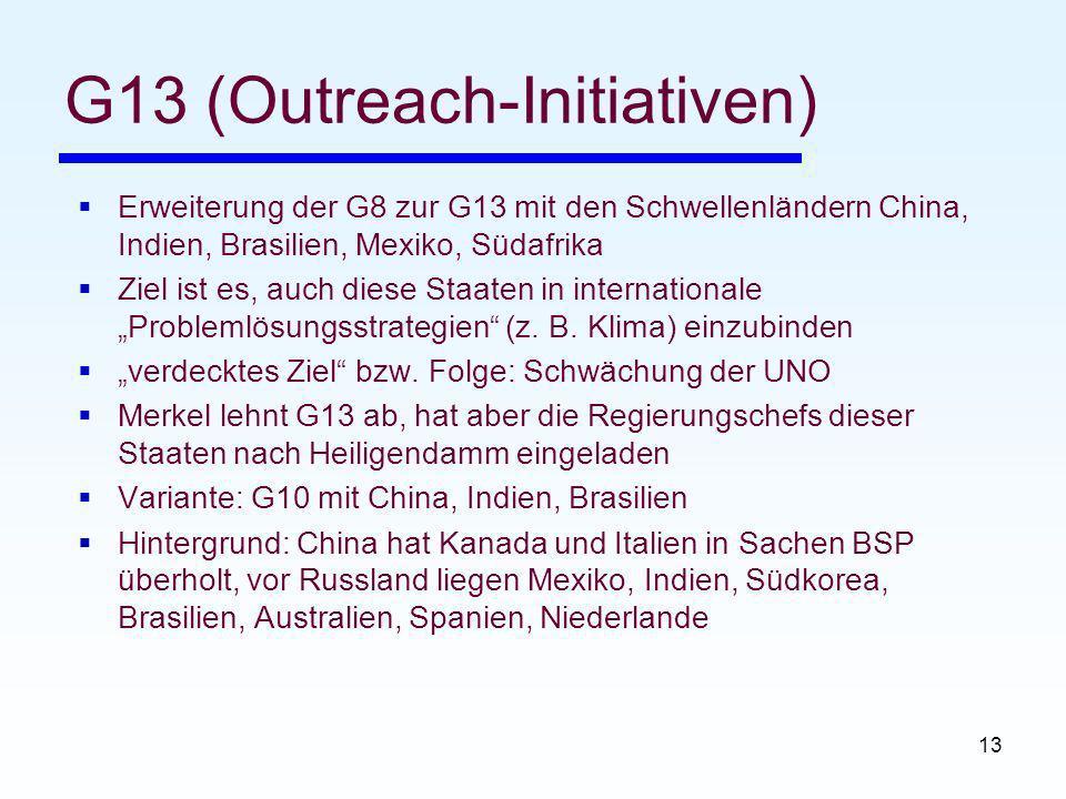 G13 (Outreach-Initiativen)