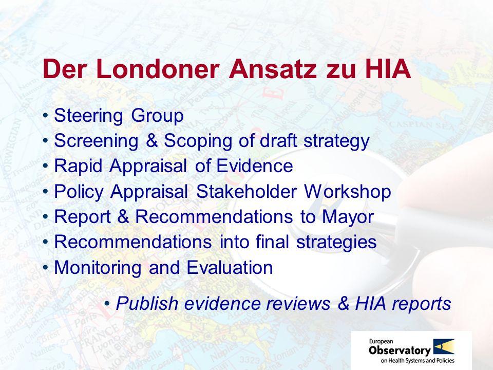 Der Londoner Ansatz zu HIA