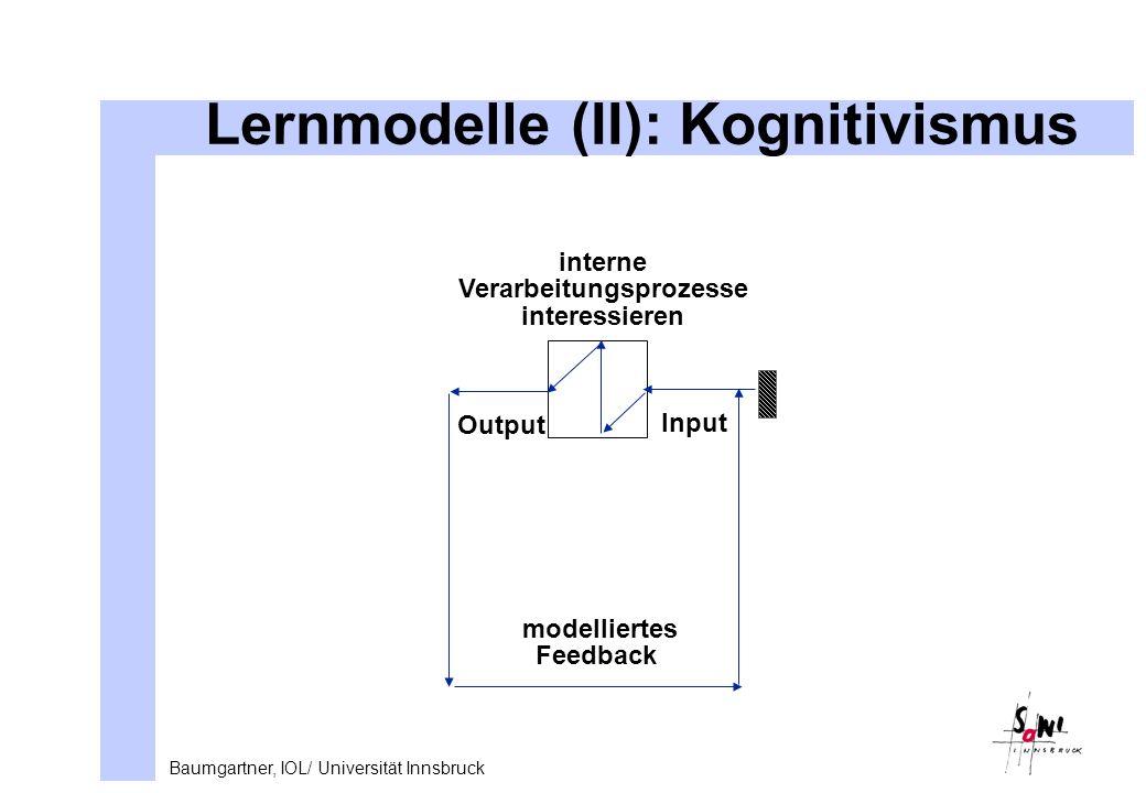 Lernmodelle (II): Kognitivismus
