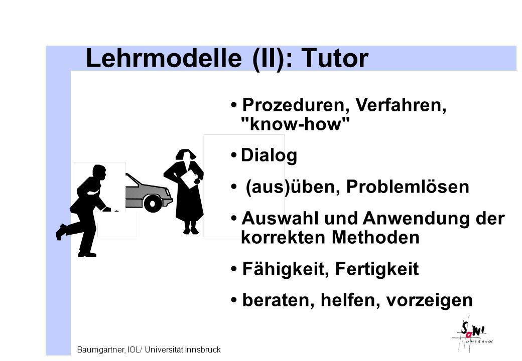 Lehrmodelle (II): Tutor