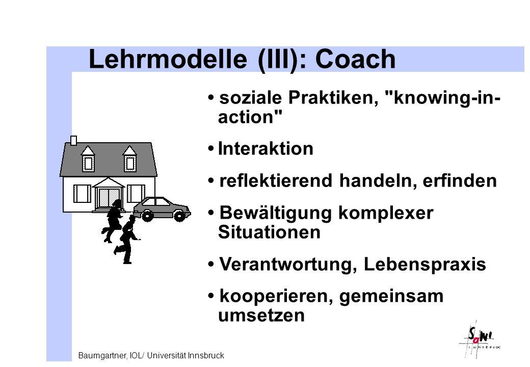 Lehrmodelle (III): Coach