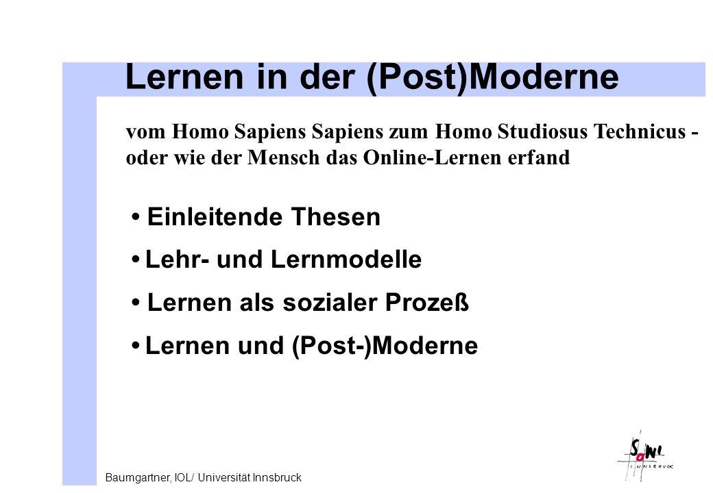Lernen in der (Post)Moderne