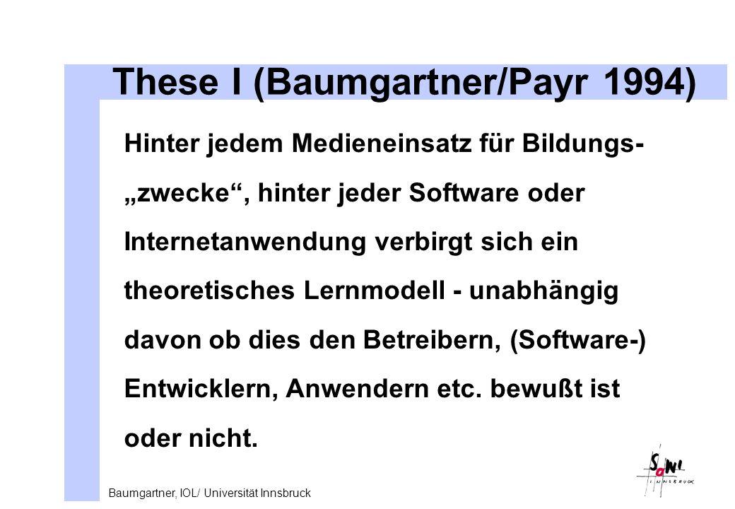 These I (Baumgartner/Payr 1994)