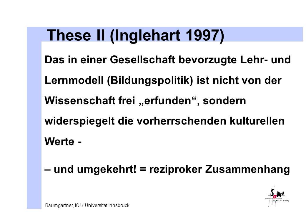 These II (Inglehart 1997)