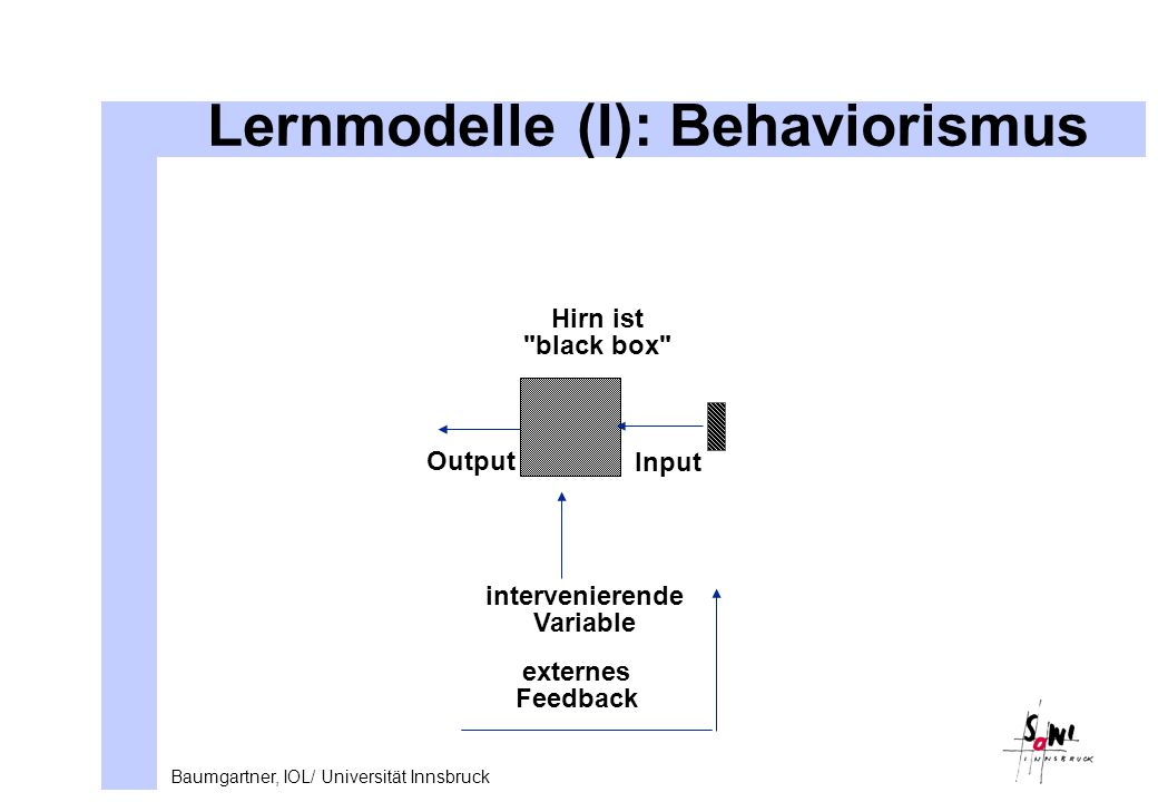 Lernmodelle (I): Behaviorismus