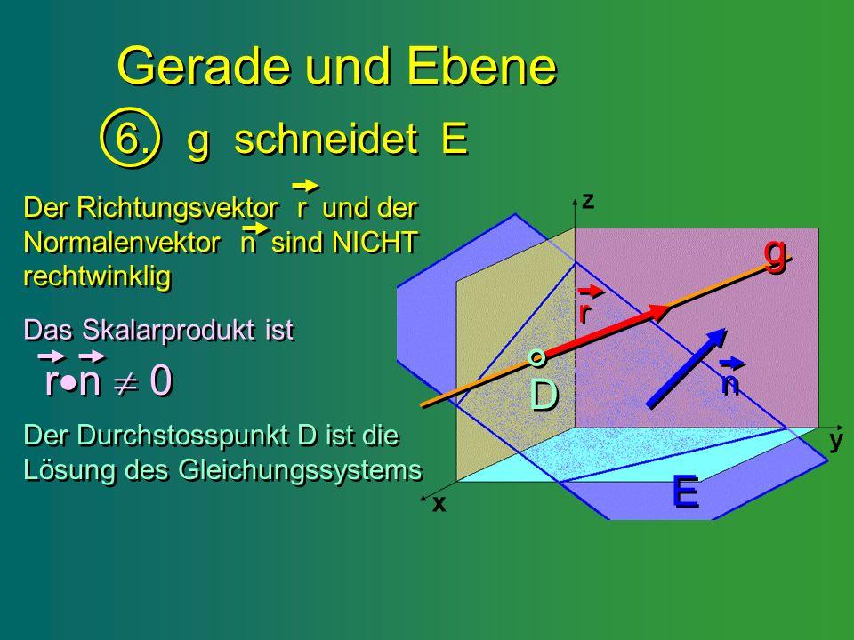 Gerade und Ebene 6. g schneidet E g rn  0 D E r n