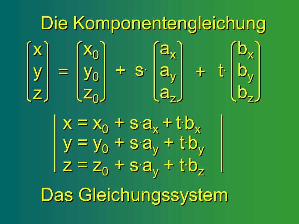 Die Komponentengleichung