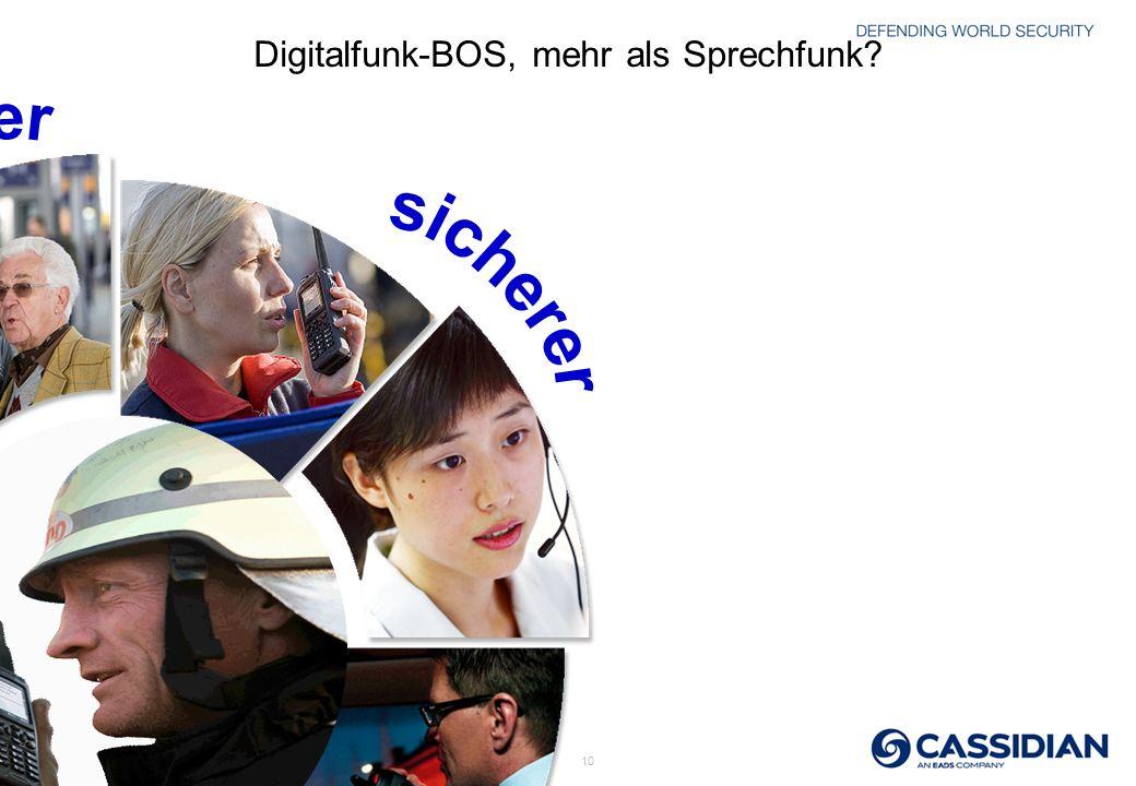 Digitalfunk-BOS, mehr als Sprechfunk