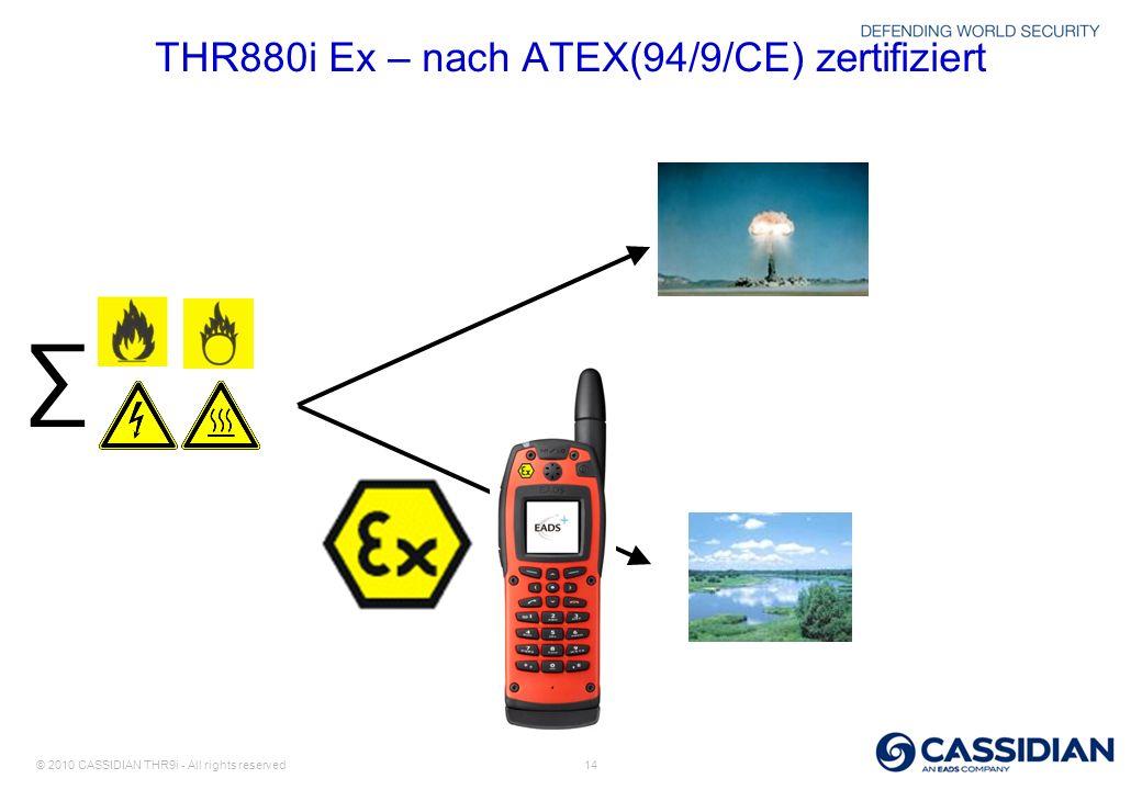 THR880i Ex – nach ATEX(94/9/CE) zertifiziert