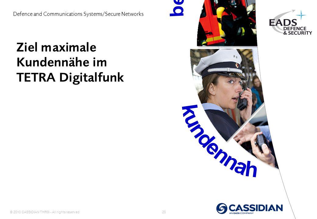 Ziel maximale Kundennähe im TETRA Digitalfunk