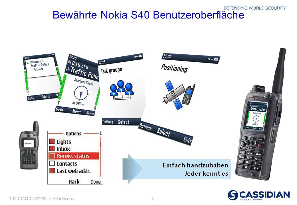 Bewährte Nokia S40 Benutzeroberfläche