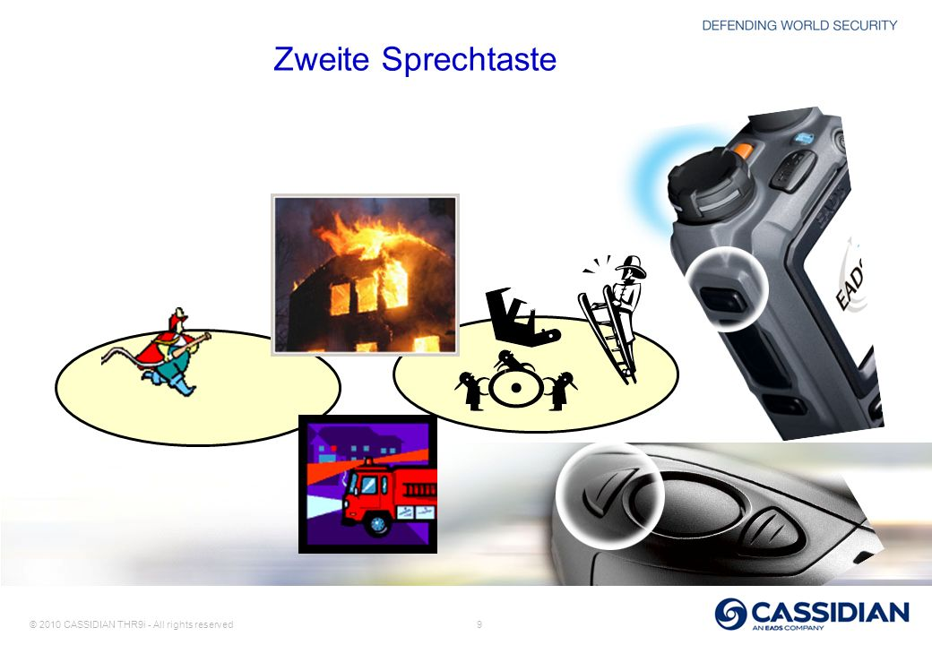 Zweite Sprechtaste Notes: Dispatcher is the one of the selected group