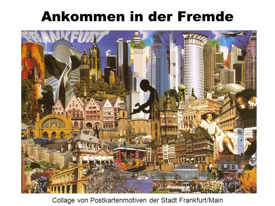 Collage von Postkartenmotiven der Stadt Frankfurt/Main