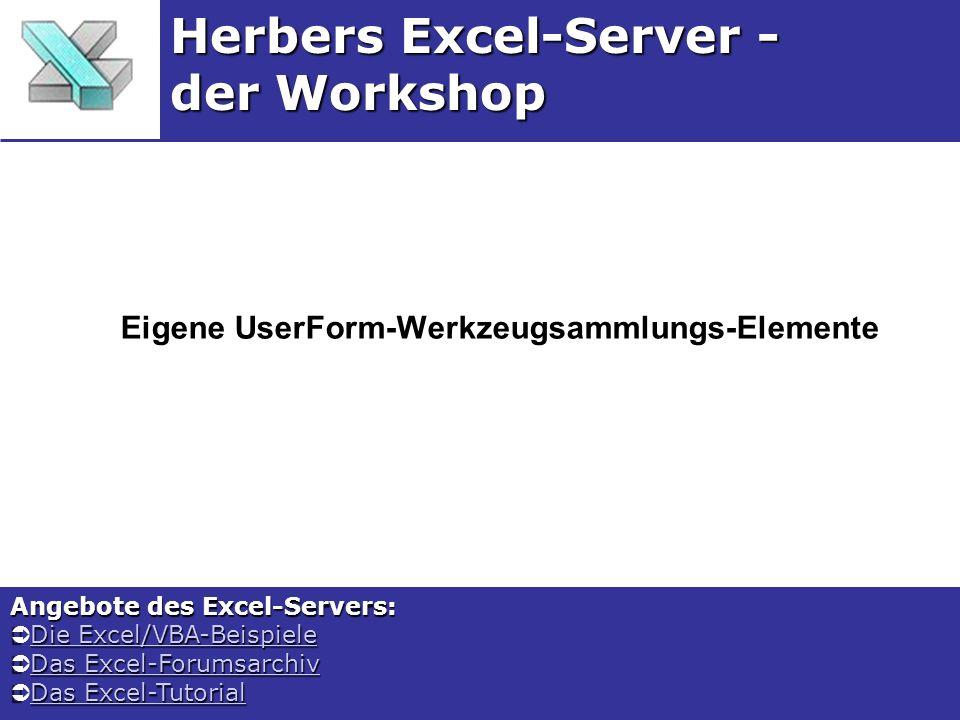 Eigene UserForm-Werkzeugsammlungs-Elemente