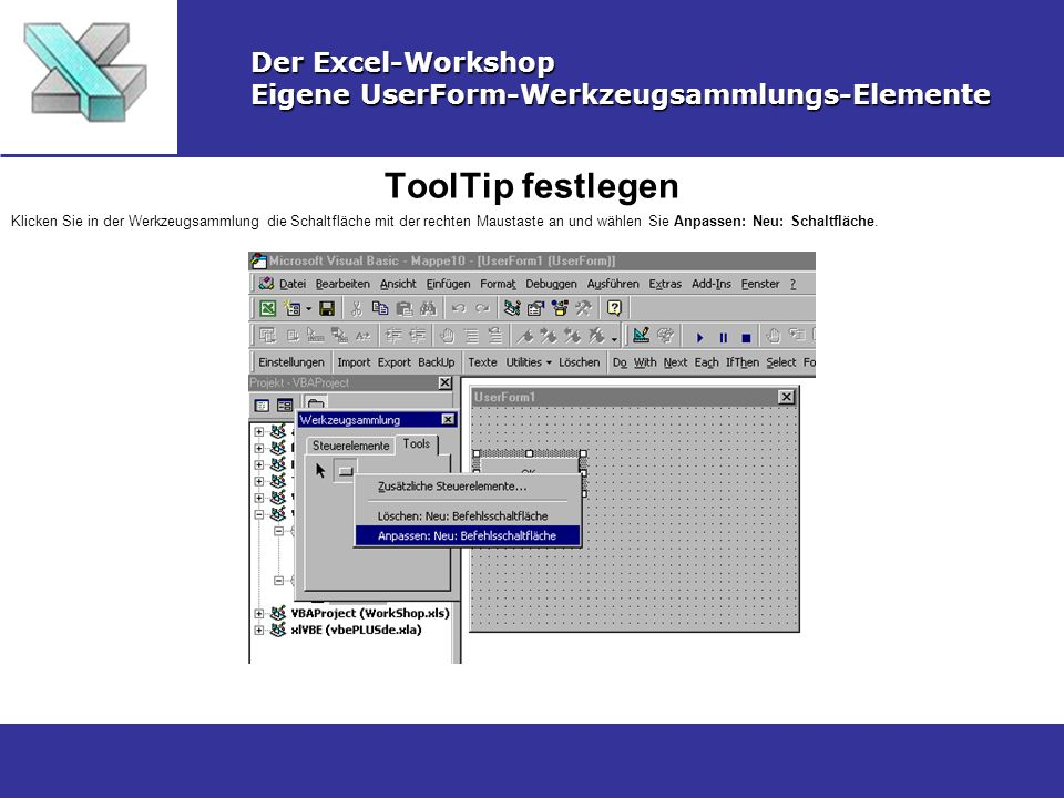 ToolTip festlegen Der Excel-Workshop