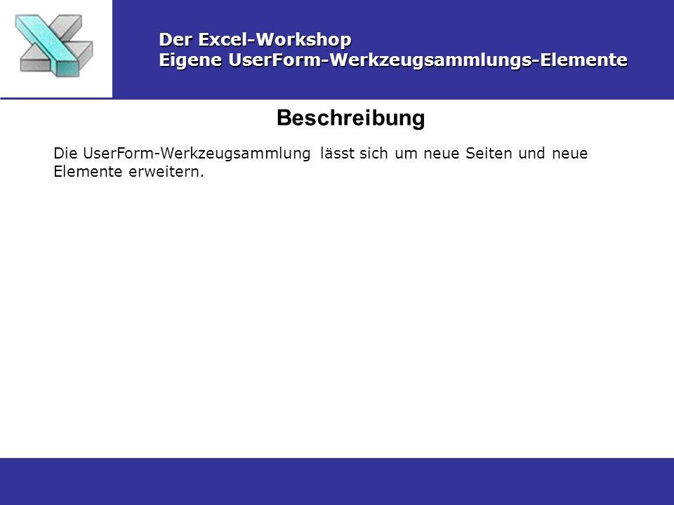 Beschreibung Der Excel-Workshop