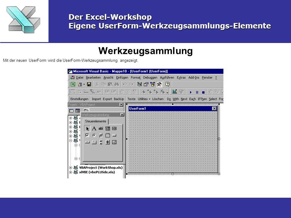 Werkzeugsammlung Der Excel-Workshop