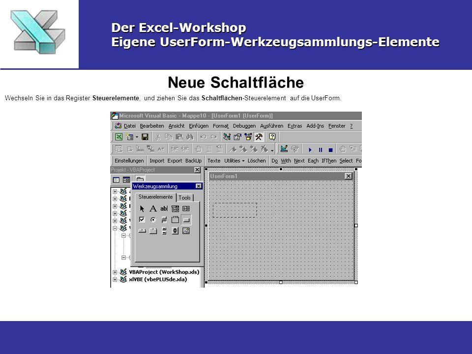 Neue Schaltfläche Der Excel-Workshop