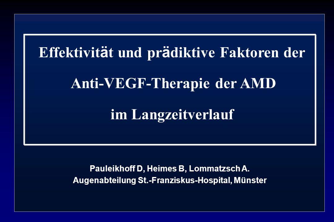 Effektivität und prädiktive Faktoren der Anti-VEGF-Therapie der AMD im Langzeitverlauf