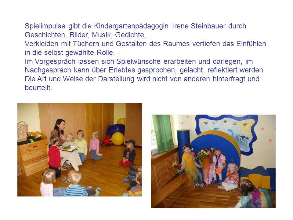 Spielimpulse gibt die Kindergartenpädagogin Irene Steinbauer durch