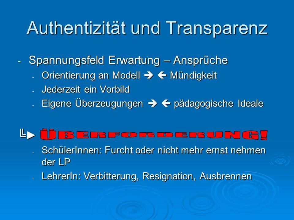 Authentizität und Transparenz