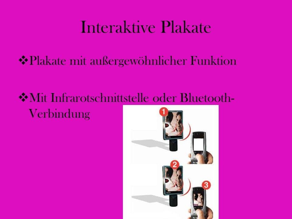 Interaktive Plakate Plakate mit außergewöhnlicher Funktion